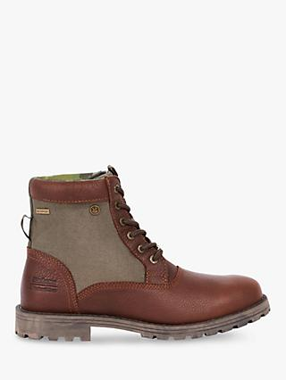Barbour National Trust Cheviot Leather Waterproof Boots, Brown