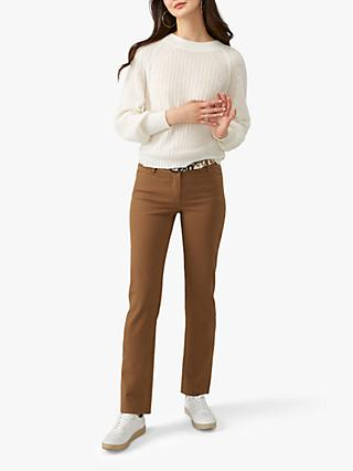 Pure Collection Stretch Jeans, Camel