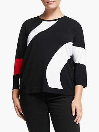 Persona by Marina Rinaldi Swirl Stripe Jumper, Black