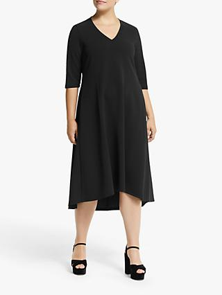 Persona by Marina Rinaldi V-Neck Jersey Dress, Black