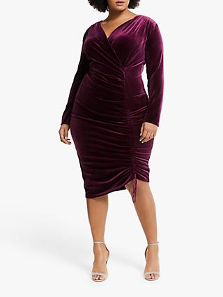 Persona by Marina Rinaldi Velvet Wrap Dress, Bordeaux