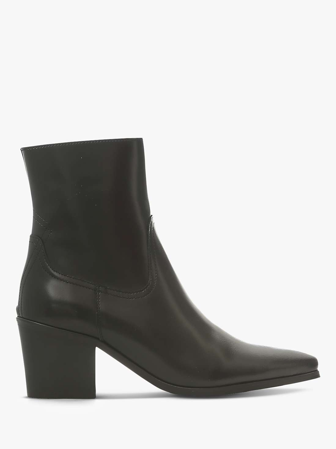 Shoe The Bear Georgia Leather Block Heel Ankle Boots, Black by John Lewis