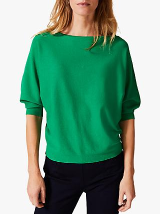 Phase Eight Christine Batwing Jumper, Green