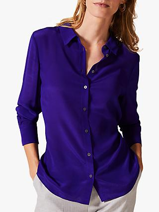 Phase Eight Maeve Silk Shirt, Violet