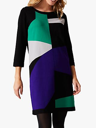Phase Eight Caleigh Colour Block Dress, Green/Multi