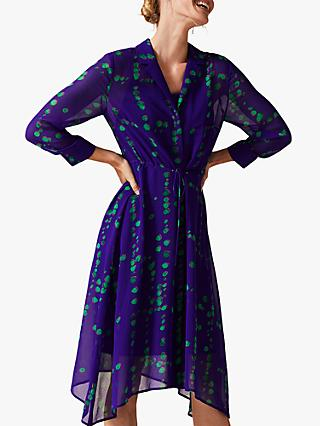 Phase Eight Bailey Print Shirt Dress, Purple/Multi