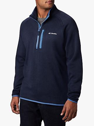 Columbia Canyon Point 1/2 Zip Sweater Fleece, Collegiate Navy/Scout Blue