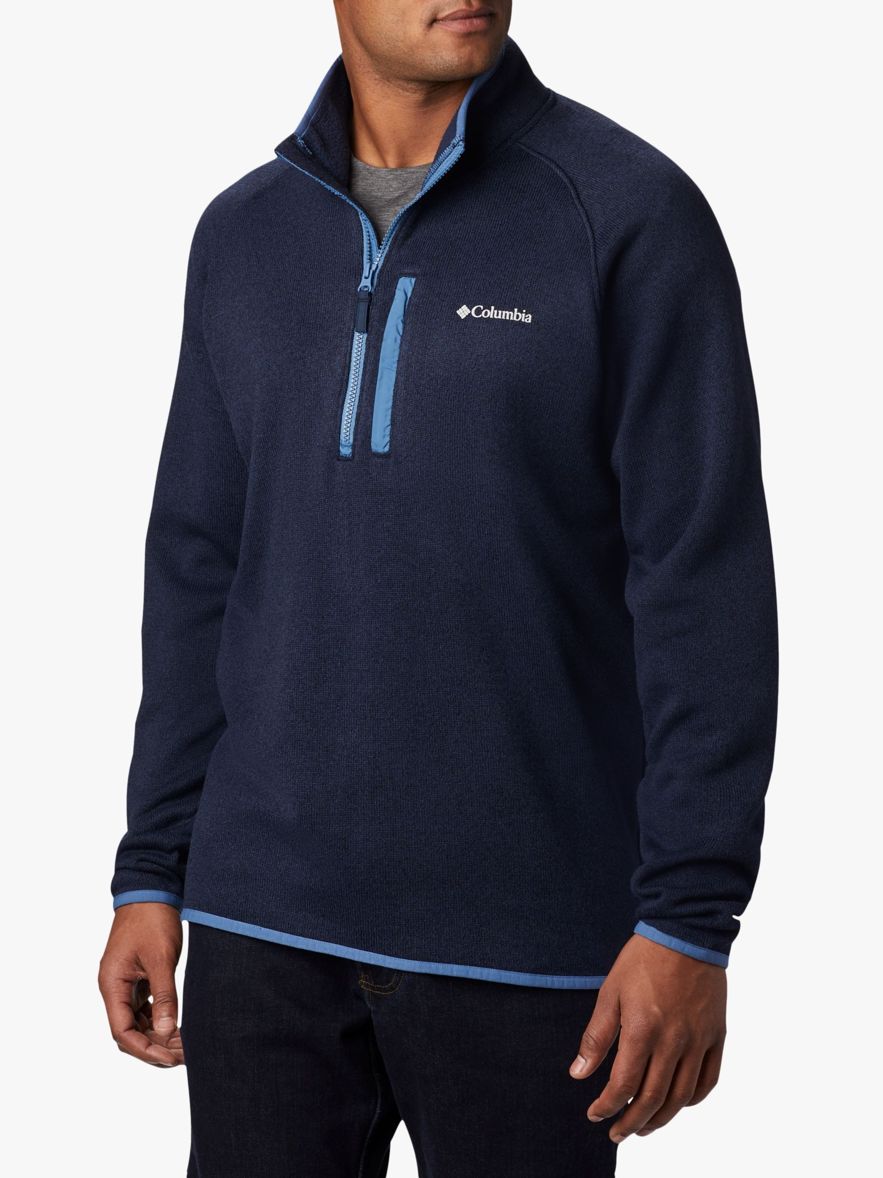 Columbia Columbia Canyon Point 1/2 Zip Sweater Fleece, Collegiate Navy/Scout Blue