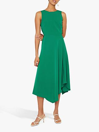 Warehouse Tie Back Dress, Bright Green
