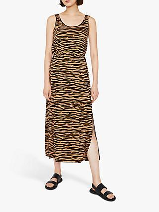 Warehouse Tiger Print Maxi Dress, Brown