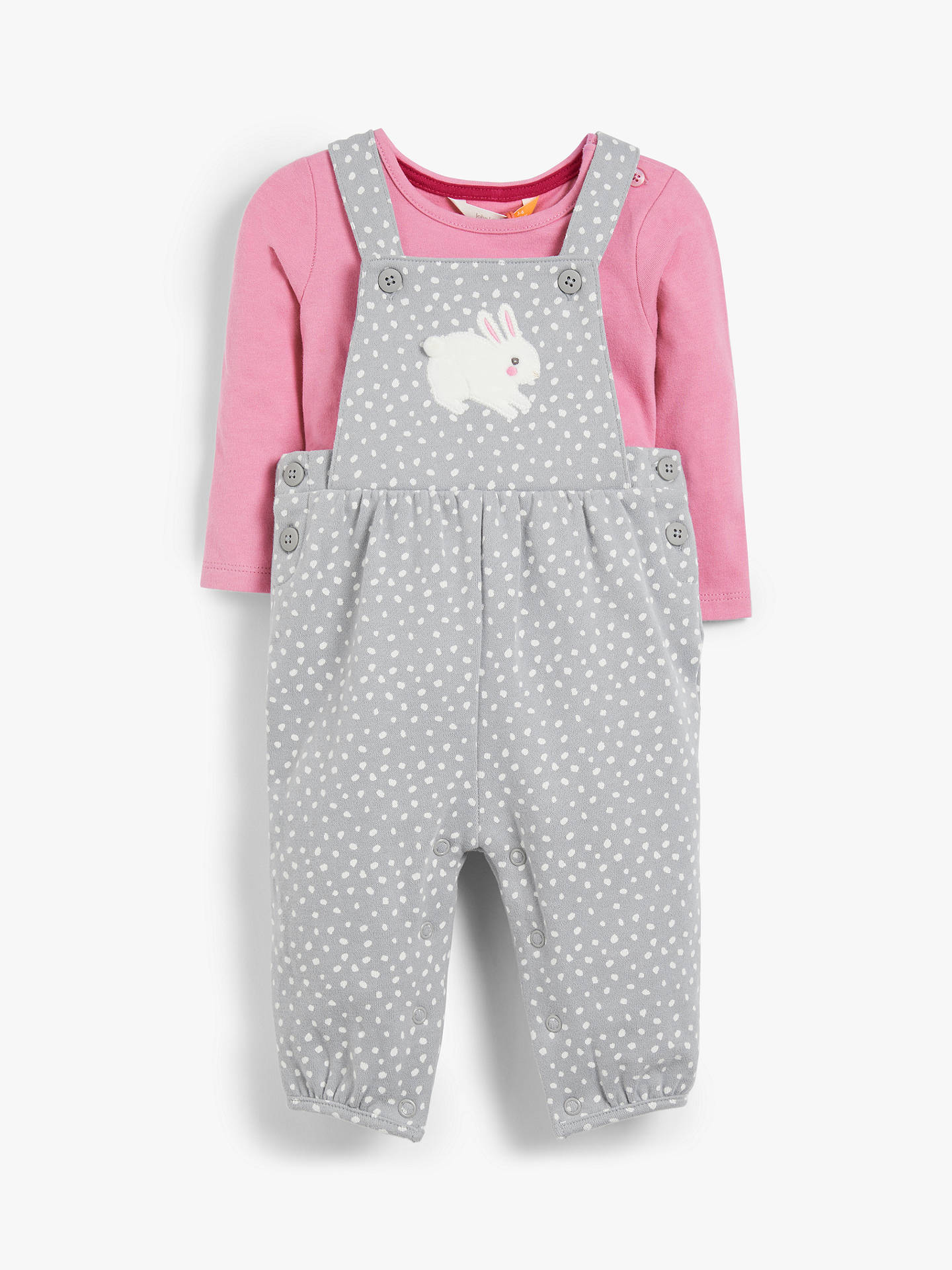 6-9 months 100/% Cotton Cute Pink Baby Girls Bunny Dungaree and Top Set 0-3 3-6