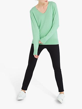 NRBY Lulu Cotton Cashmere Knit Sweater, Soft Mint