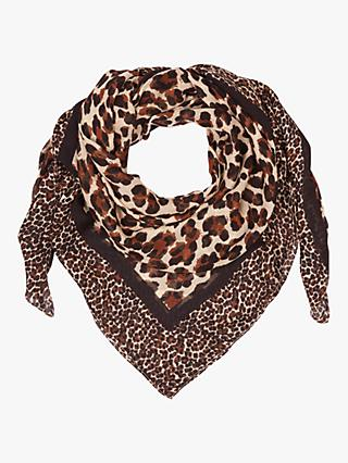 Hobbs Carmel Animal Print Scarf, Brown