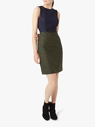 Hobbs Ellie Dress, Green/Navy