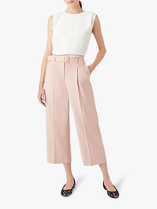 Hobbs Heather Ankle Grazer Trousers, Soft Pink