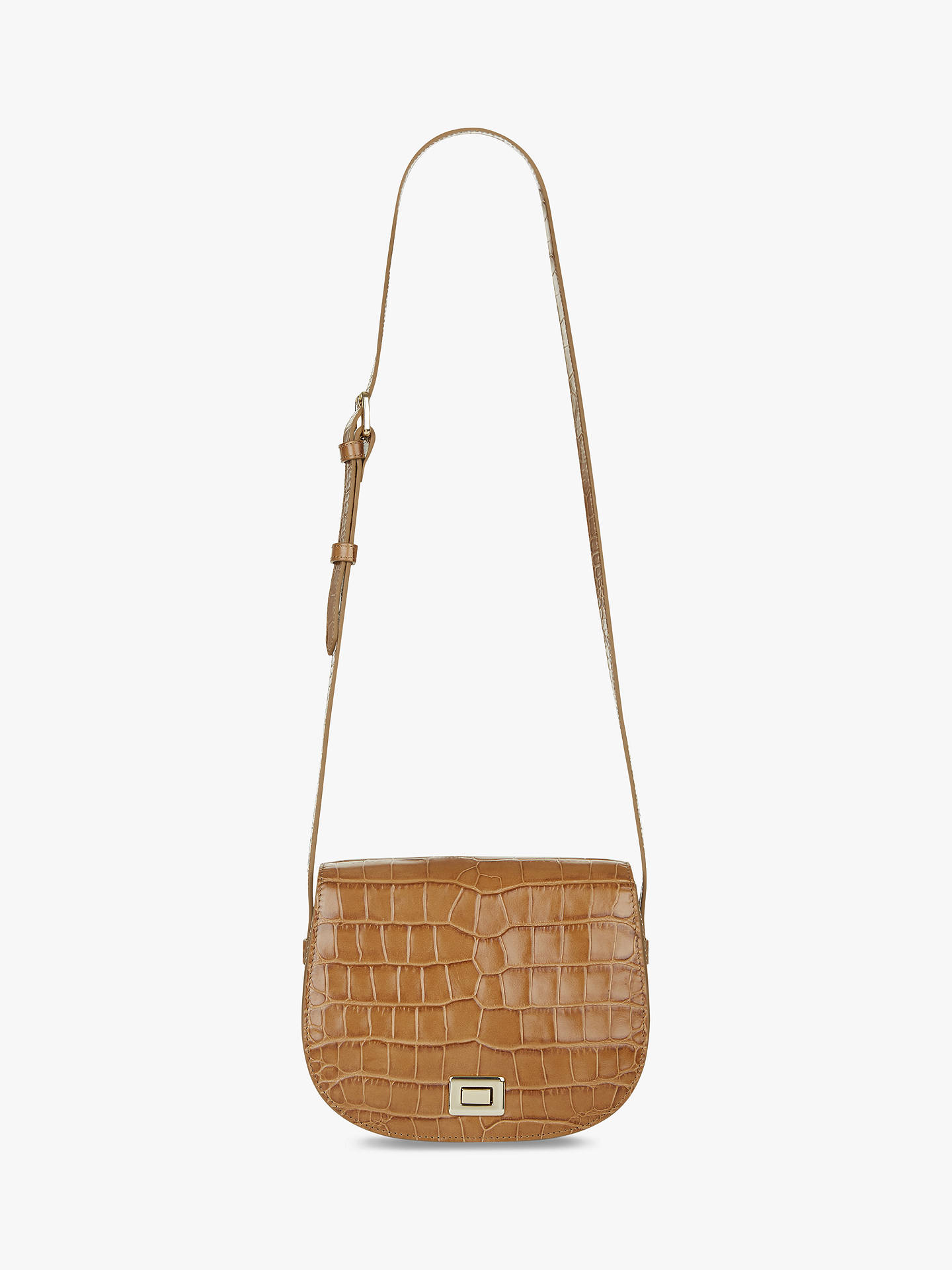 Hobbs Oxford Leather Saddle Bag, Latte by Hobbs
