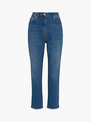 Whistles Slim Frayed Detail Jeans