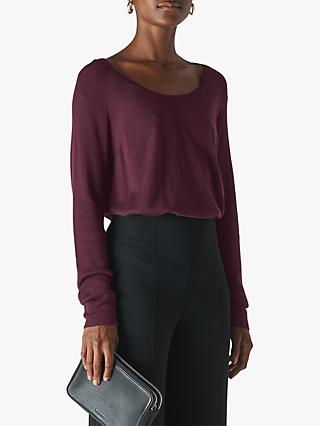 Whistles Scoop Neck Top