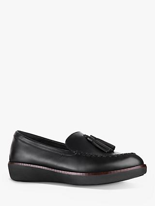 FitFlop Petrina Leather Tassel Loafers, Black