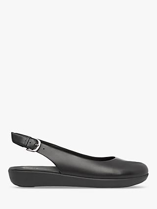 FitFlop Sarita Leather Slingback Pumps, Black