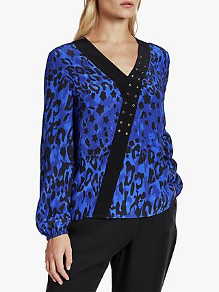 Ted Baker Shanni Topaz Eyelet Detail Top, Blue