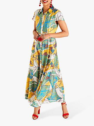 Yumi Tassel Print Maxi Dress, Multi