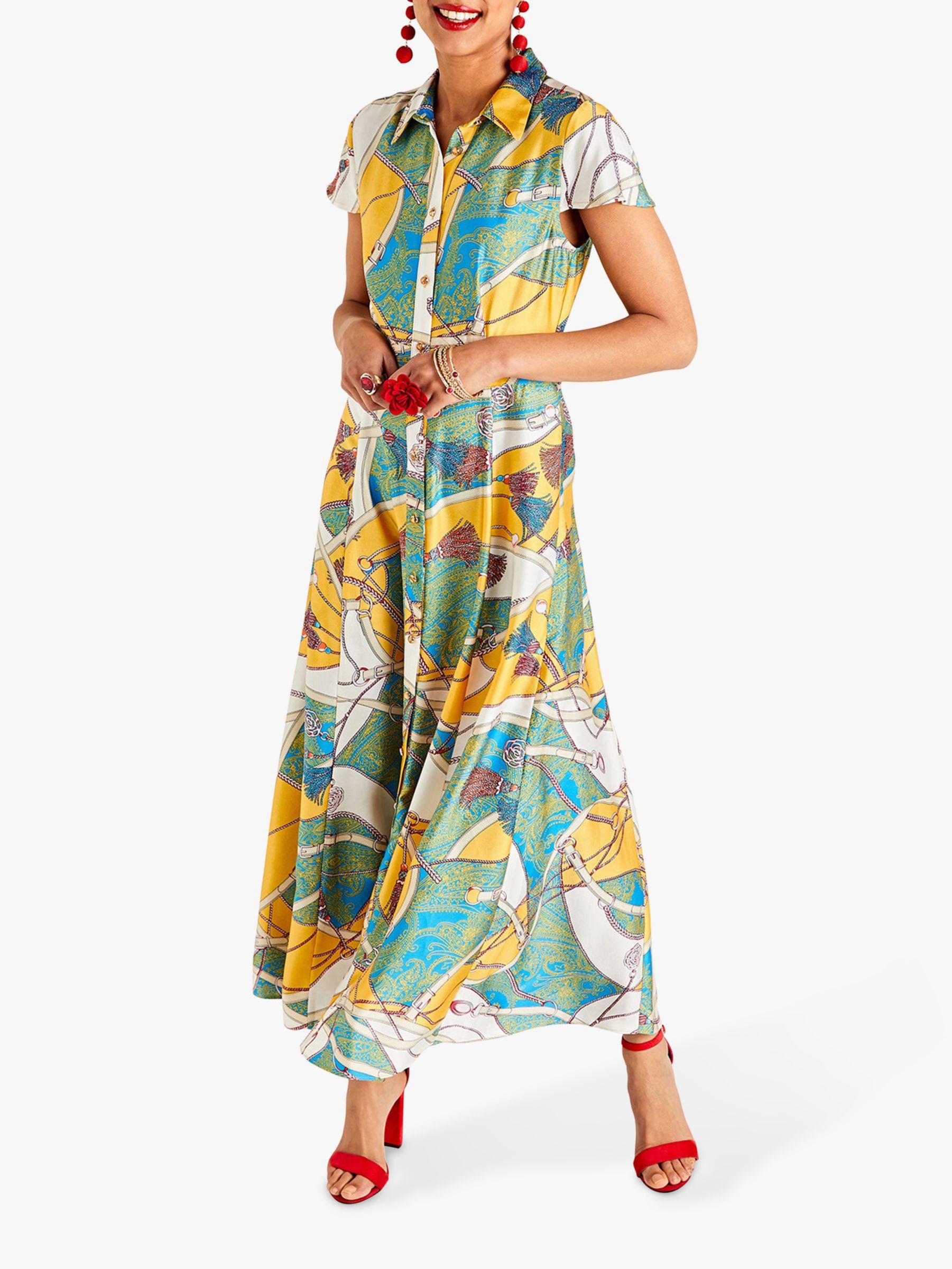 Yumi Yumi Tassel Print Maxi Dress, Multi