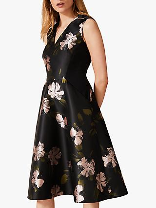 Phase Eight Sandy Floral Dress, Black/Multi