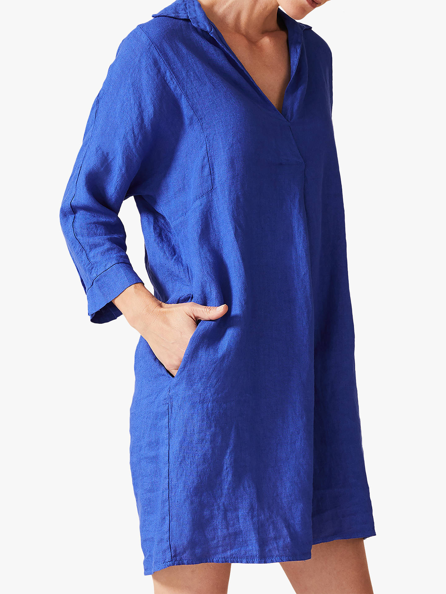 Buy Phase Eight Kathy Linen Dress, Cobalt, 14 Online at johnlewis.com