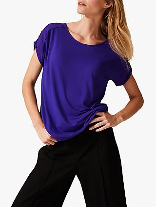 Phase Eight Griselda Eyelet Top, Electric Purple
