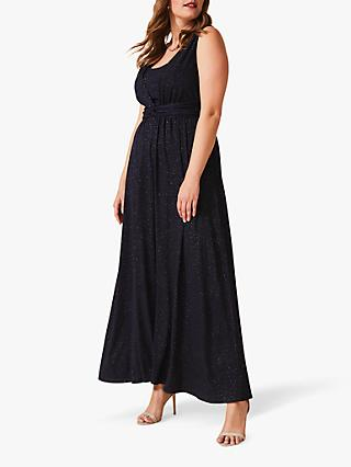 Studio 8 Julianna Sparkle Maxi Dress, Navy