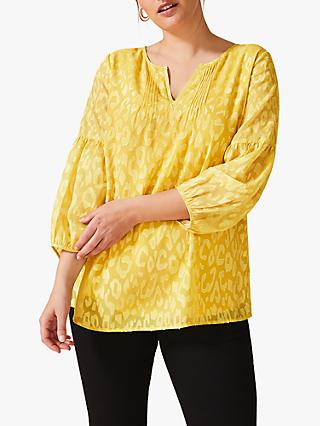 Studio 8 Dora Burnout Top, Ochre