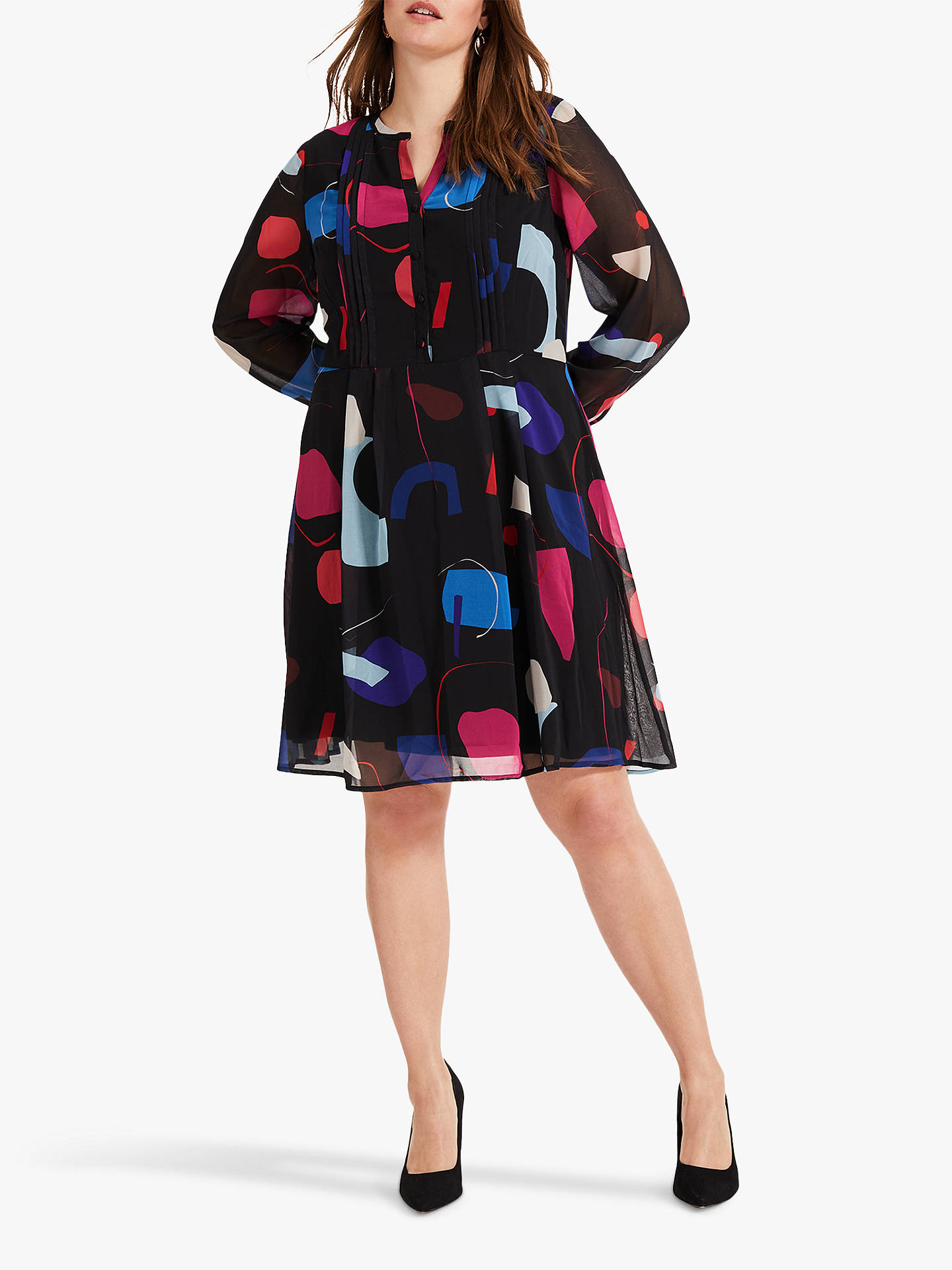 Buy Studio 8 Tamara Print Dress, Black/Multi, 16 Online at johnlewis.com