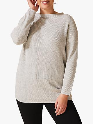 Studio 8 Edith Funnel Neck Jumper, Grey