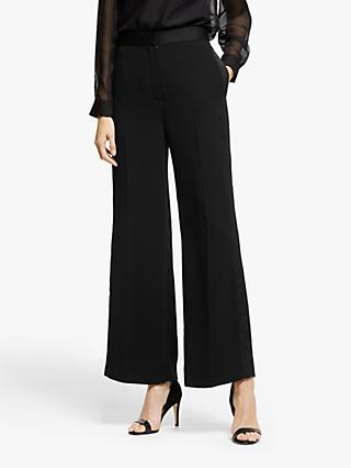 Modern Rarity Satin Wide Leg Trousers, Black