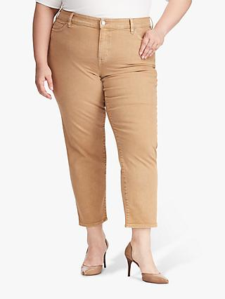Lauren Ralph Lauren Curve Premier Straight Leg Ankle Jeans, Golden Tan Wash