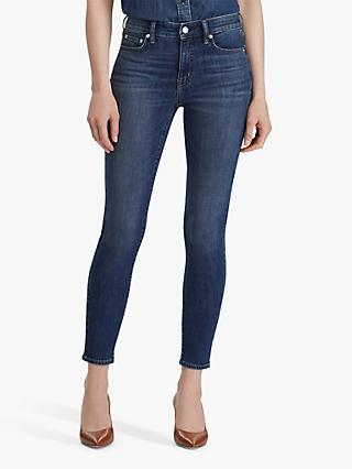 Lauren Ralph Lauren Premier Slim Straight Leg Jeans, Dark Abraded Wash