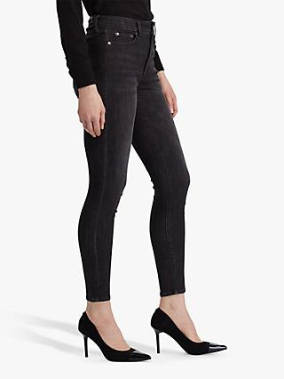 Lauren Ralph Lauren Regal Skinny Ankle Jeans, Imperial Black Wash