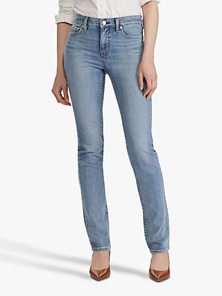 Lauren Ralph Lauren Premier Slim Straight Leg Jeans, Light Worn Wash