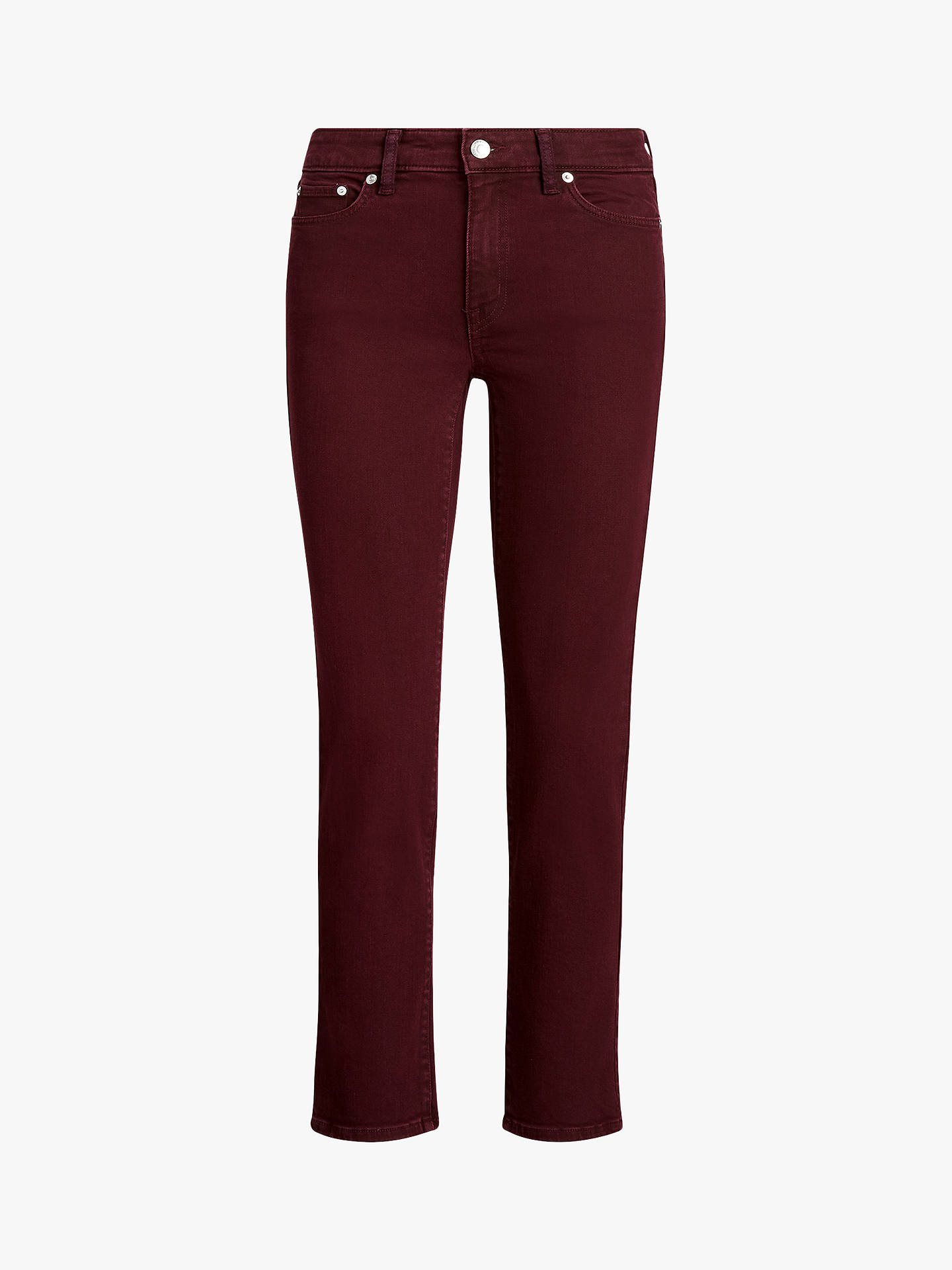 Buy Lauren Ralph Lauren Premier Straight Leg Ankle Jeans, Pinot Noir Wash, 6 Online at johnlewis.com
