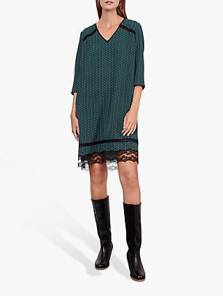Gerard Darel Danyl Geometric Lace Dress, Green