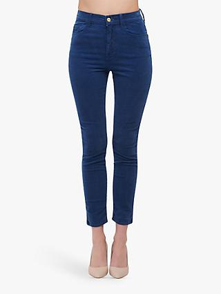 FRAME Ali High Rise Cord Cigarette Jeans, Twilight