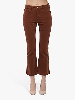 FRAME Le Crop Mini Bootcut Cord Jeans, Butterscotch