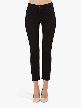 FRAME Le High Straight Leg Jeans, Film Noir