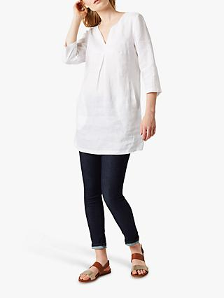 White Stuff Linen Tunic Top, White
