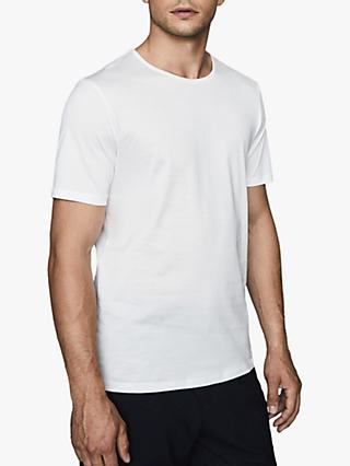 Reiss Balham Short Sleeve Mercerised T-Shirt, White