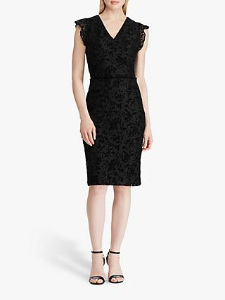Lauren Ralph Lauren Alejandra Cap Sleeve Lace Dress, Black