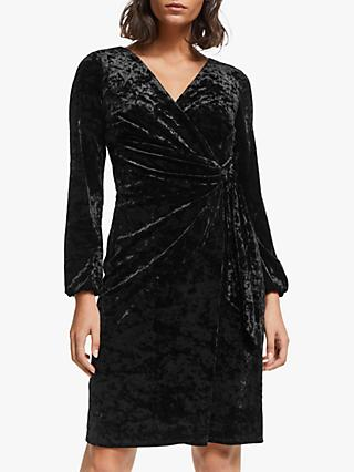 Lauren Ralph Lauren Joni Velvet Dress, Black