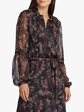 Lauren Ralph Lauren Zada Floral Print Midi Dress, Polo Black