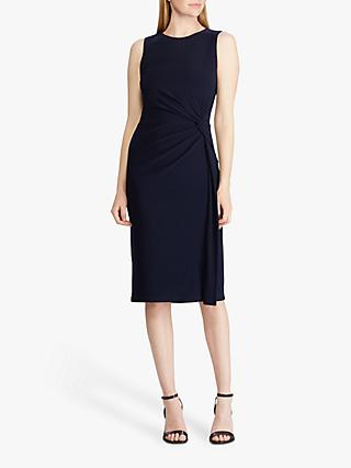 Lauren Ralph Lauren Talen Sleeveless Jersey Dress, Lighthouse Navy